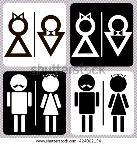 toilet icon great for any use. Vector illustration symbol set  - stock vector