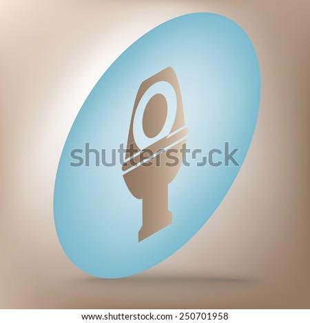 Toilet Icon  set. Isometric effect - stock vector