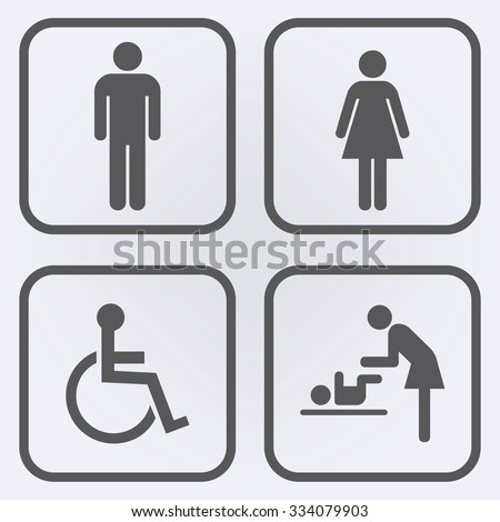 Toilet icon set   People icon   Vector illustration. Restroom Icon Set Stock Photos  Royalty Free Images   Vectors