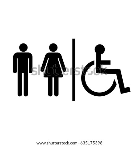 Bathroom Sign Language Symbol restroom sign stock images, royalty-free images & vectors