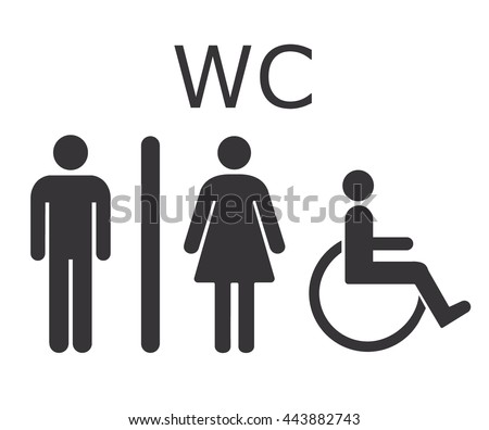 Toilet icon WC sign Restroom sign icon Vector illustration. Funny Toilet Signs Stock Images  Royalty Free Images   Vectors