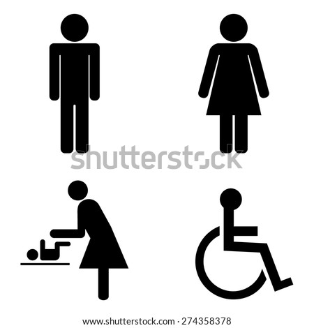 Toilet Icons - stock vector