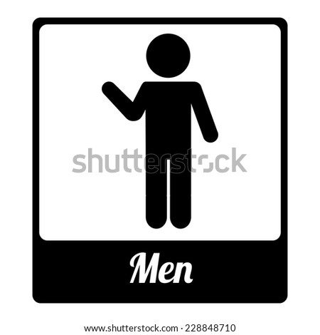 toilet label graphic design , vector illustration - stock vector