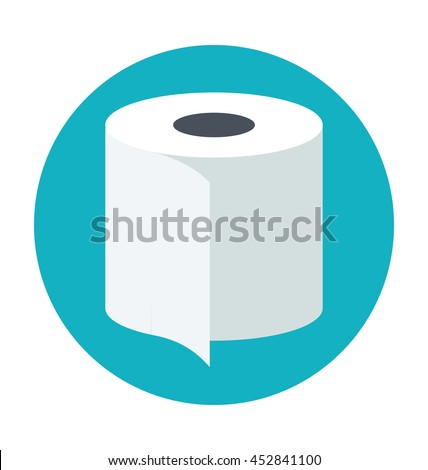 Toilet Paper Colored Vector Illustration