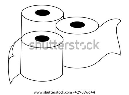toilet paper illustration - stock vector