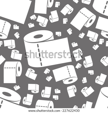 toilet paper seamless pattern - stock vector