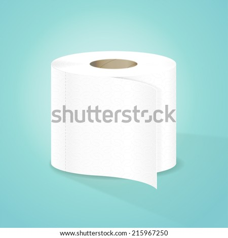 Toilet Paper Vector Illustration - stock vector