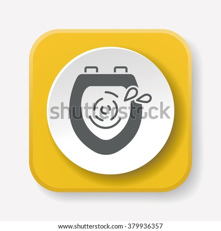 toilet flush icon stock images royaltyfree images