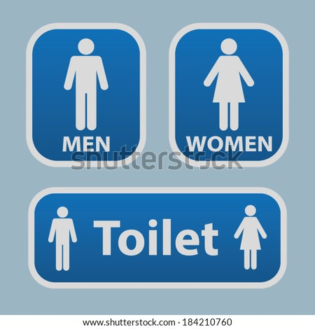 Bathroom Signs With Arrows toilet symbol stock images, royalty-free images & vectors