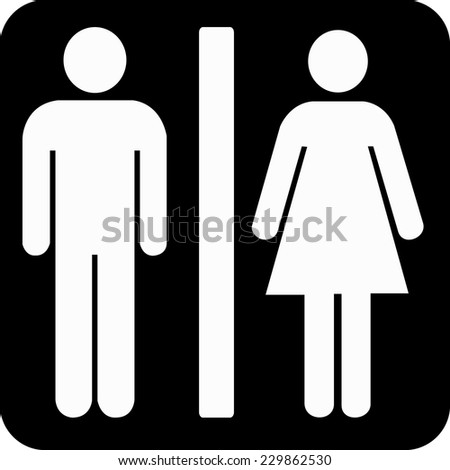 toilets icon - stock vector