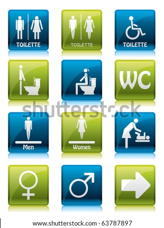 Toilette signs - stock vector