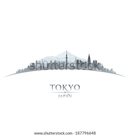 Tokyo Japan city skyline silhouette. Vector illustration - stock vector