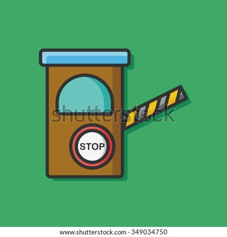 Clip Art Passing the Toll