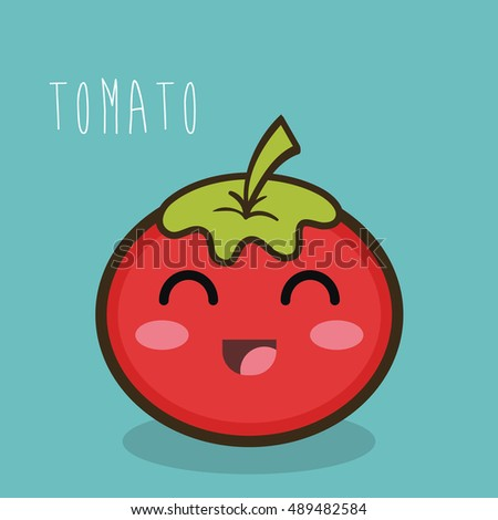 tomato fresch facial expression design graphic