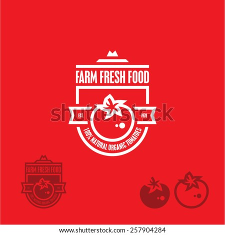 Tomato icon. Tomato label. - stock vector