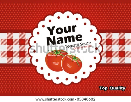 Tomato sauce vector label - stock vector