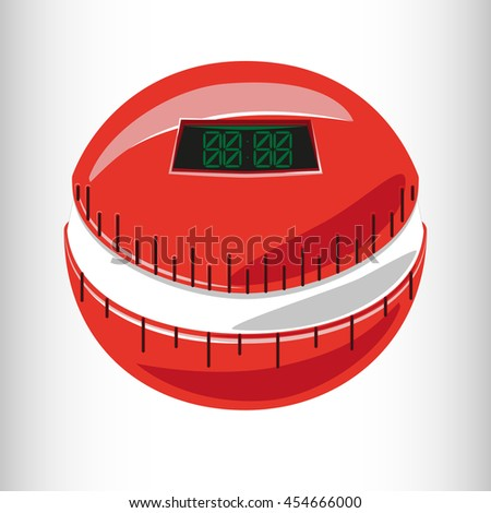 Tomato timer. Vector illustration. - stock vector