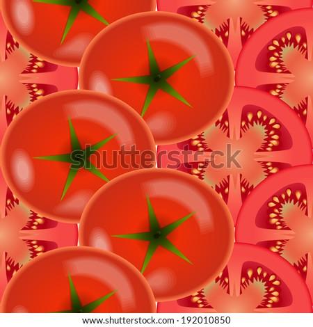 Tomato vegetables. Design seamless diagonal colorful pattern. Vector art. EPS10 - stock vector