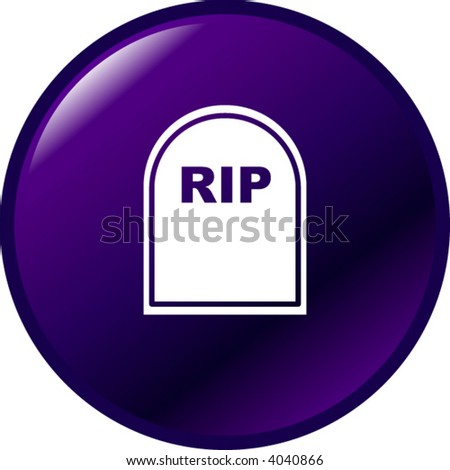 tombstone button - stock vector