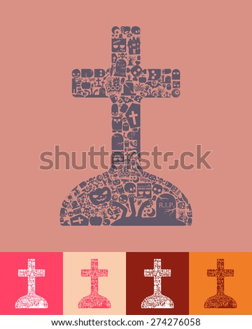 tombstone icon - stock vector