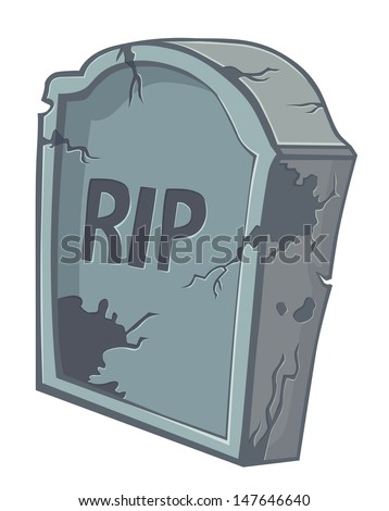 tombstone on a white background - stock vector