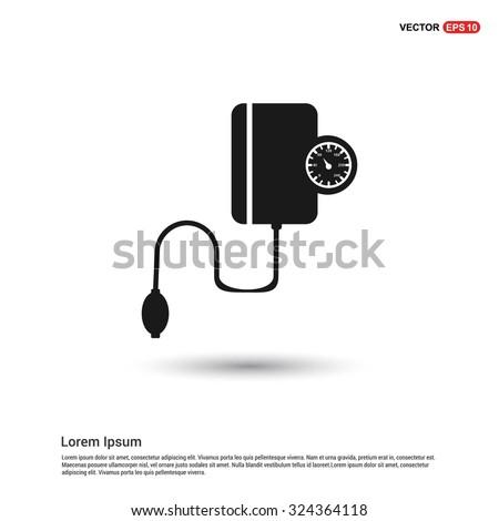 Tonometer icon blood pressure checker icon blood pressure checker icon pictogram icon on white background vector illustration voltagebd Choice Image
