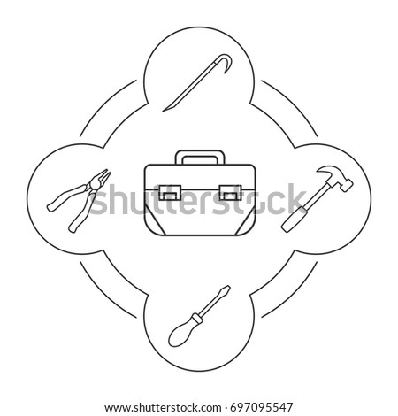 screwdriver isolated stock vectors, images & vector art | shutterstock - Tools Coloring Pages Screwdriver