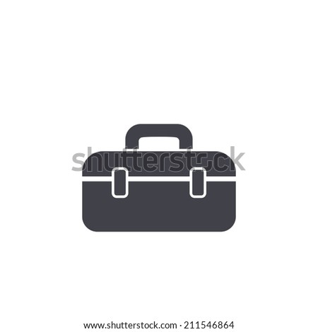 tool box icon,vector illustration - stock vector