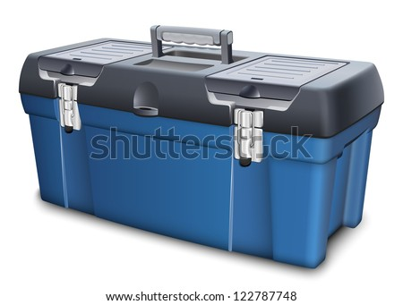 Tool box on white background. Realistic vector illustration - stock vector