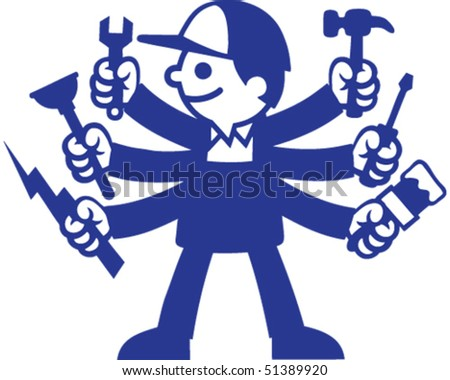 Tool Guy - stock vector