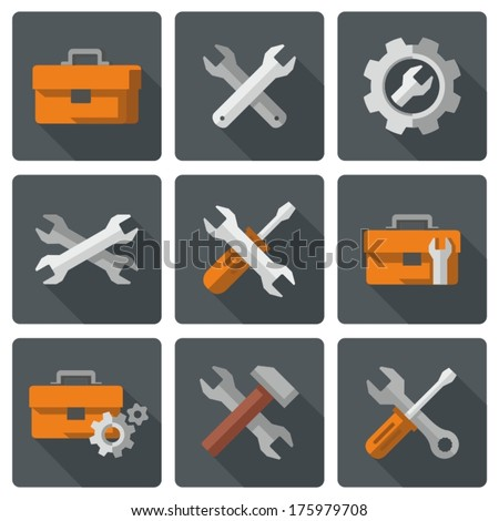 Tool icons - stock vector