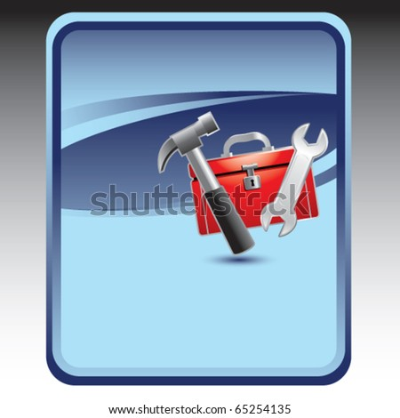 toolbox blue background