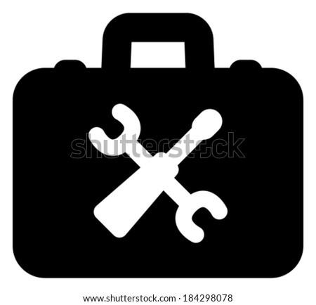 Toolbox vector icon - stock vector