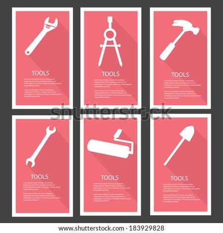 Tools Banners,vector - stock vector