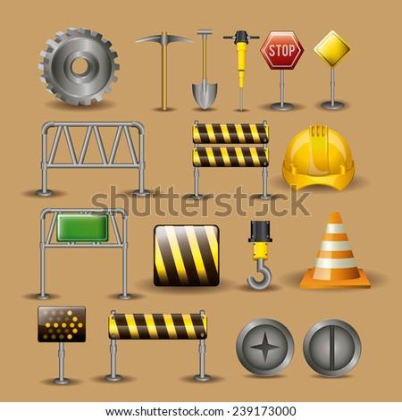 Tools design over beige background,vector illustration. - stock vector