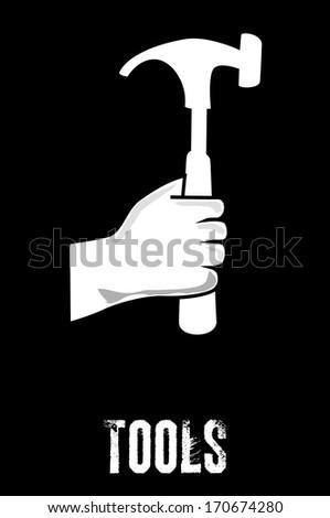 tools design  over black  background. vector illustration - stock vector