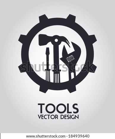 Tools design over gray background, vector illustration - stock vector