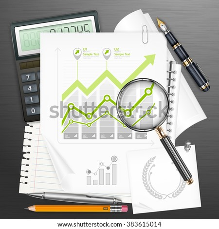 Tools for business & infographic elements, vector illustration - stock vector