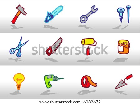 Tools icons - others of the same series: http://www.shutterstock.com/lightboxes.mhtml?lightbox_id=499021