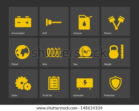 Tools icons. Vector illustration.