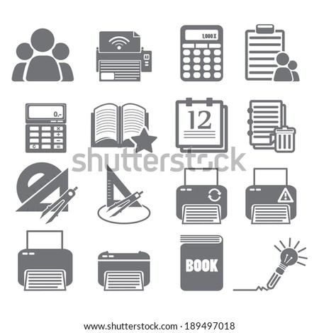 tools learning icon set 4