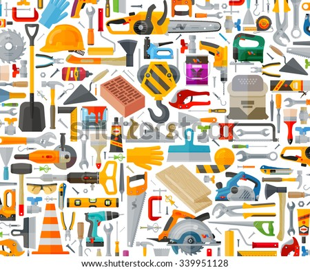 tools set icons. signs and symbols - stock vector
