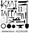 tools silhouette set 1 - stock vector