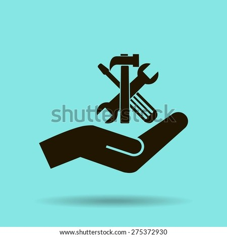 tools vector icon - stock vector
