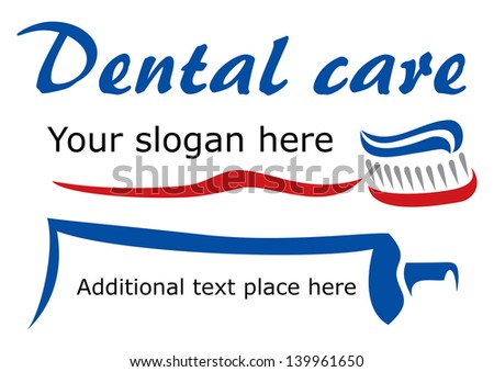 Tooth brush and paste - stock vector
