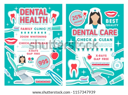 tooth care discount offer posters dental stock vector royalty free