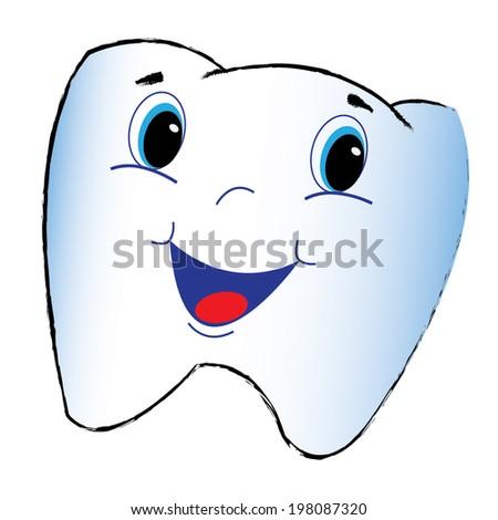Tooth cartoon - stock vector