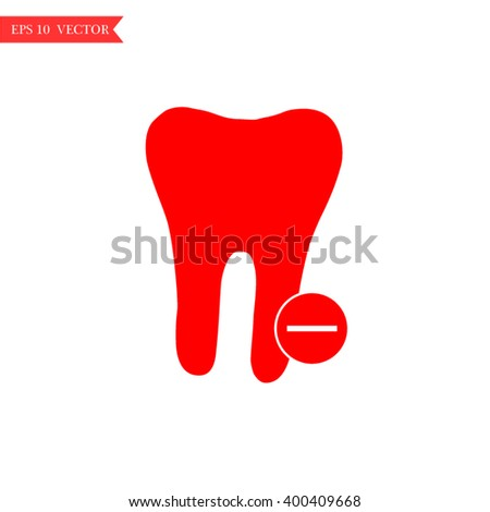 tooth icon flat,