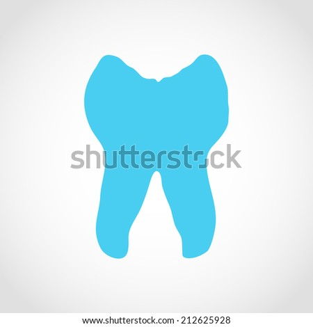 Tooth Icon Isolated on White Background
