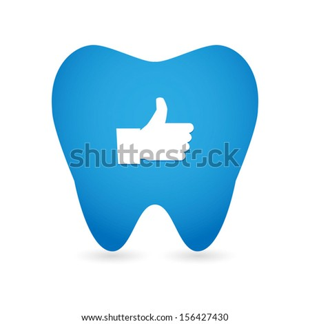 Tooth illustration with an icon - stock vector